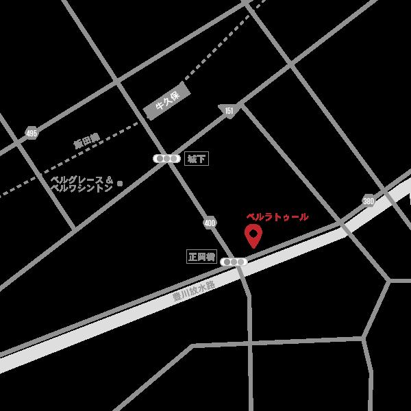 ベルラトゥール 地図